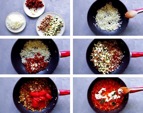 ricotta and tomato sauce