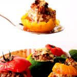 yellow tomato with stuffing