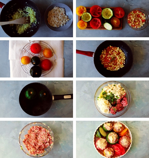 instruction for stuffed vegetables recipe