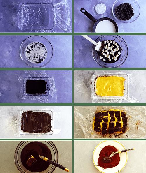 steps to make chocolate and orange truffles