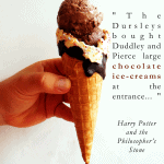 harry potter quote about chocolate ice cream