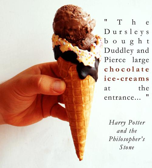 chocolate ice cream and harry potter quote