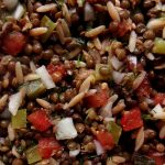 green lentil and onion