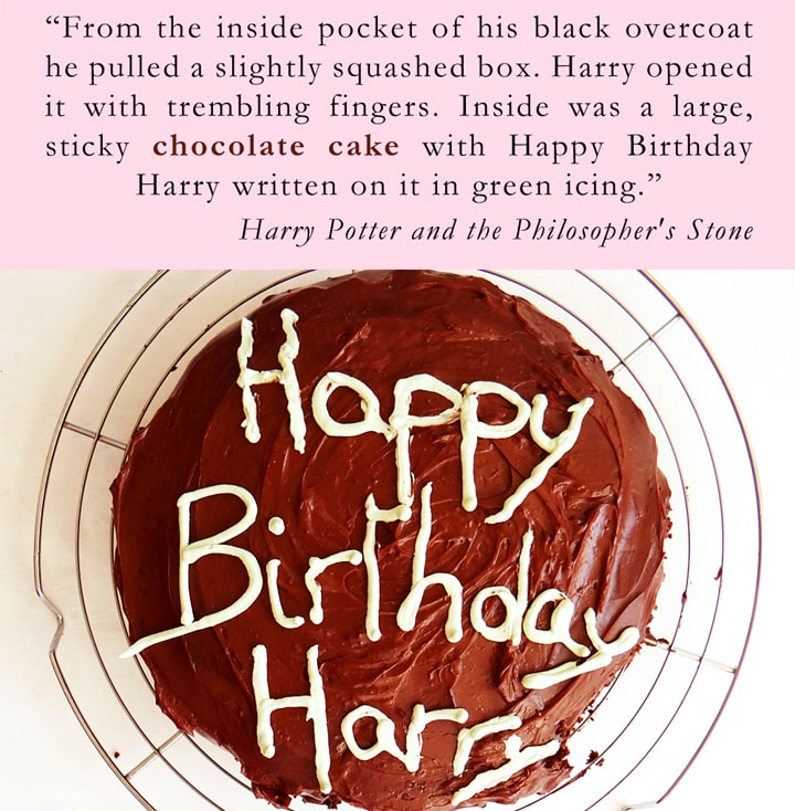 hagrid's cake for harry's birthday