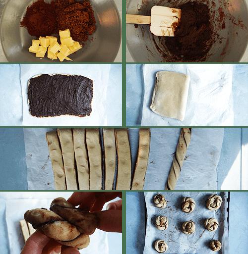 steps to make chocolate buns