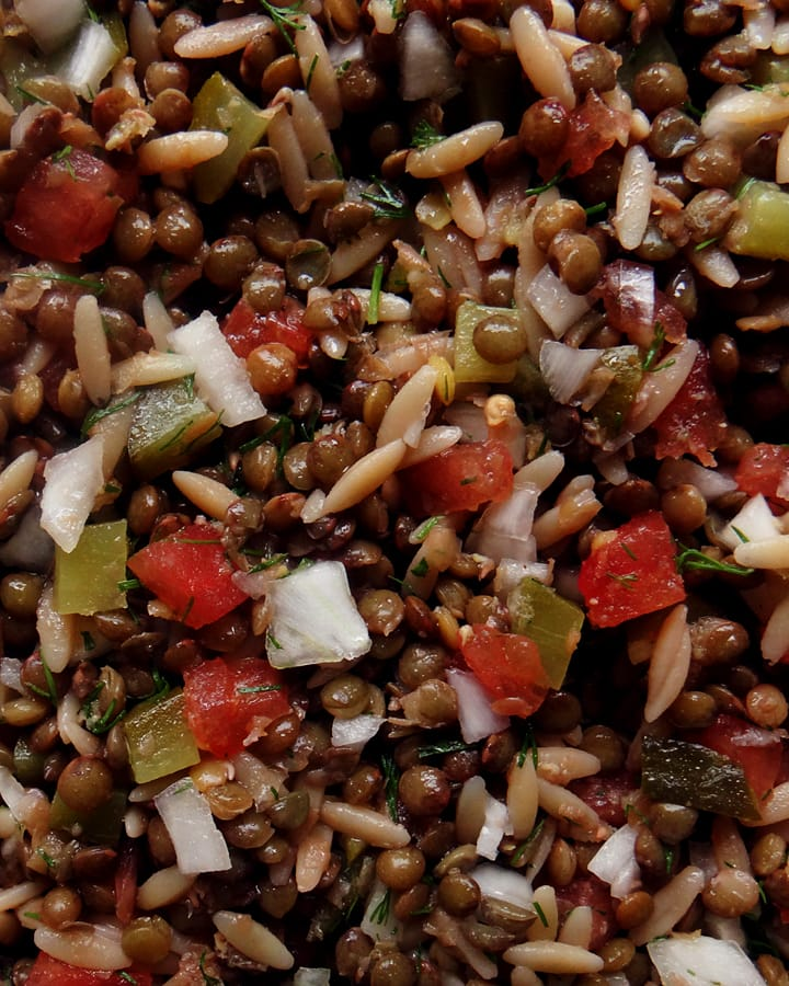 mercimek salatası
