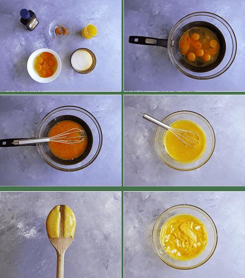 steps to make an orange curd