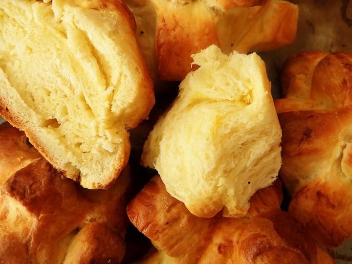 chewy center of a brioche bun