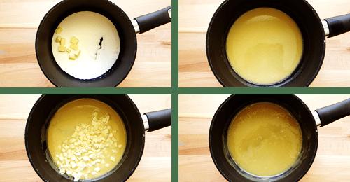 white chocolate fudge in a pan