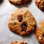 cookies à l'avoine sur plaque
