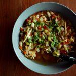 la soupe au pistou dans une assiette