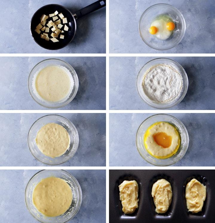 instructions madeleines au chocolat blanc