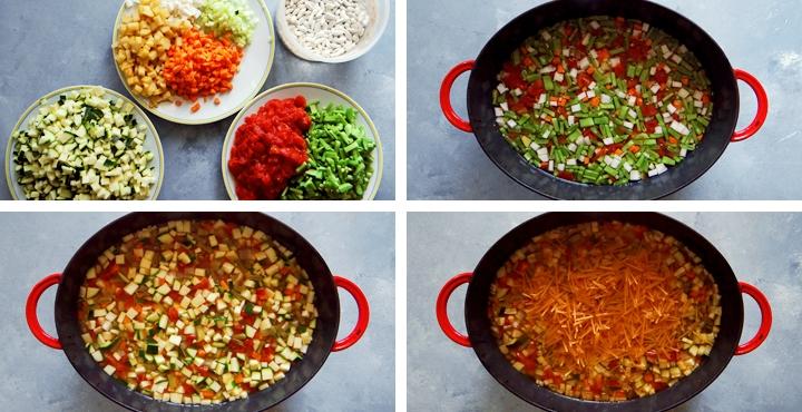 pistou soup in Dutch oven