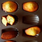 white chocolate madeleines out of the mold