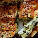 börek aux épinards en morceaux
