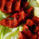 cig kofte on lettuce leaves