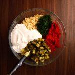 ingredients for creamy pasta salad
