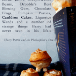 cauldron cakes and harry potter quote