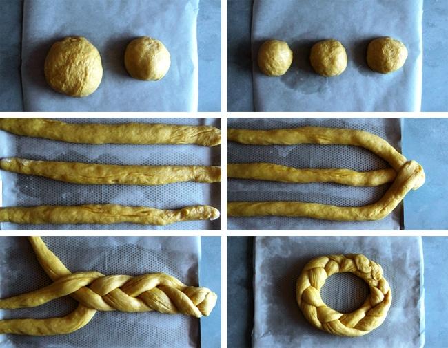 3-strands braid dough