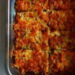zucchini gratin in baking dish