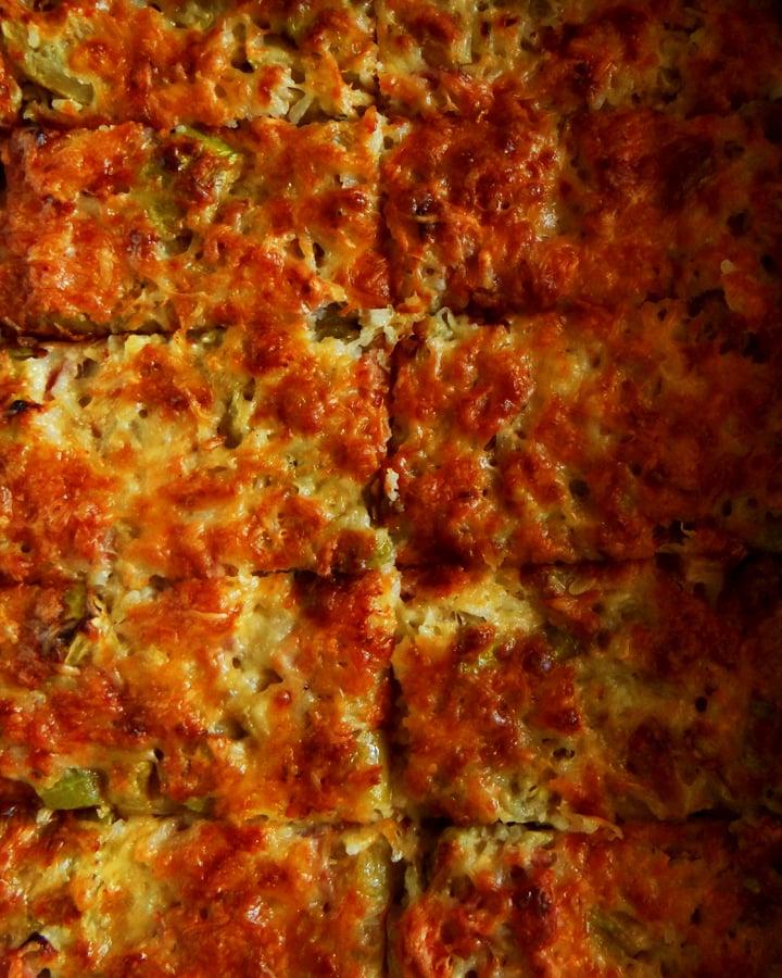 zucchini tian slices