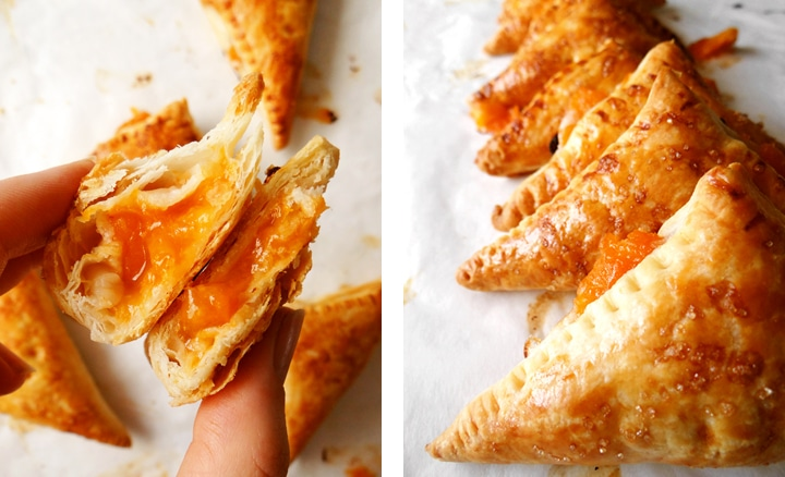 apricot turnovers in halves