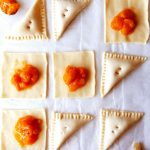 turnovers et compote d'abricot