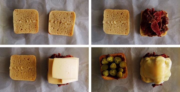 instructions sandwich au corned beef