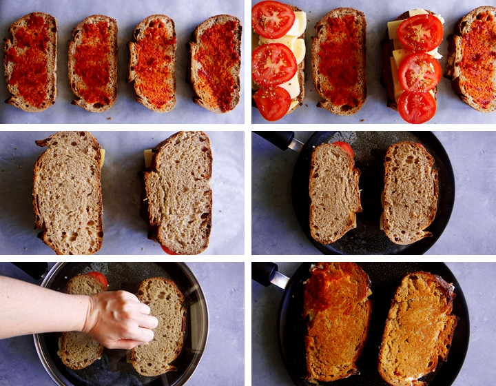 instructions pour toast au fromage