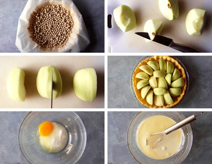 instructions for french apple tart