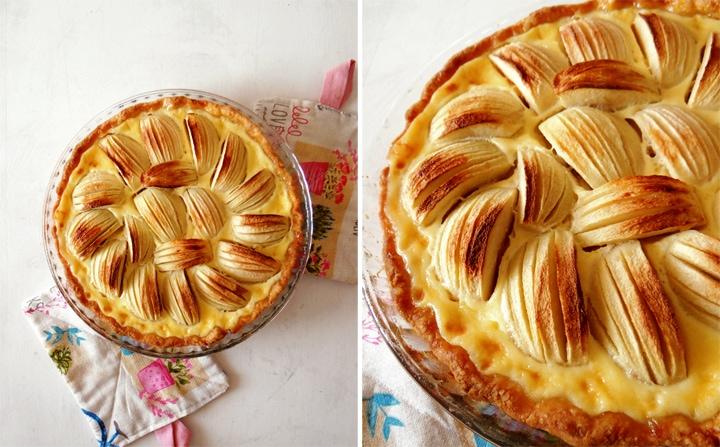 alsatian pie in pan