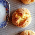 orange cookies on tray
