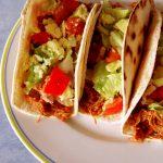 tacos au porc sur assiette