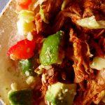 tacos au porc sur planche