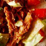 tacos au porc ouvert