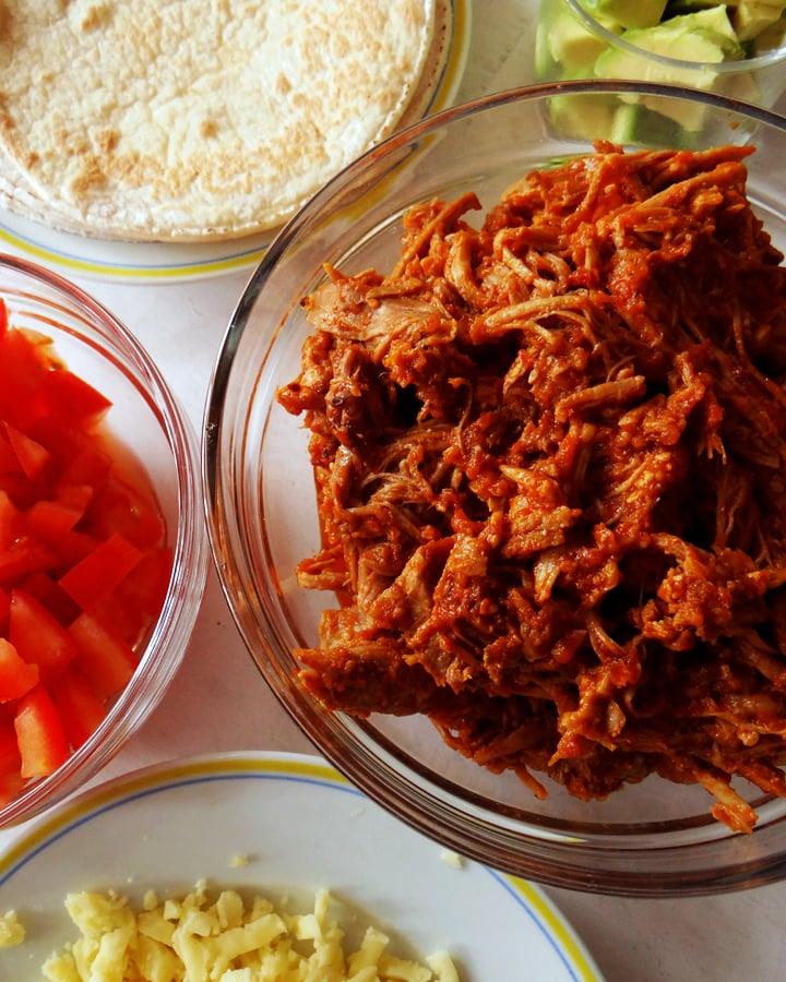 ingrédients pour tacos au porc