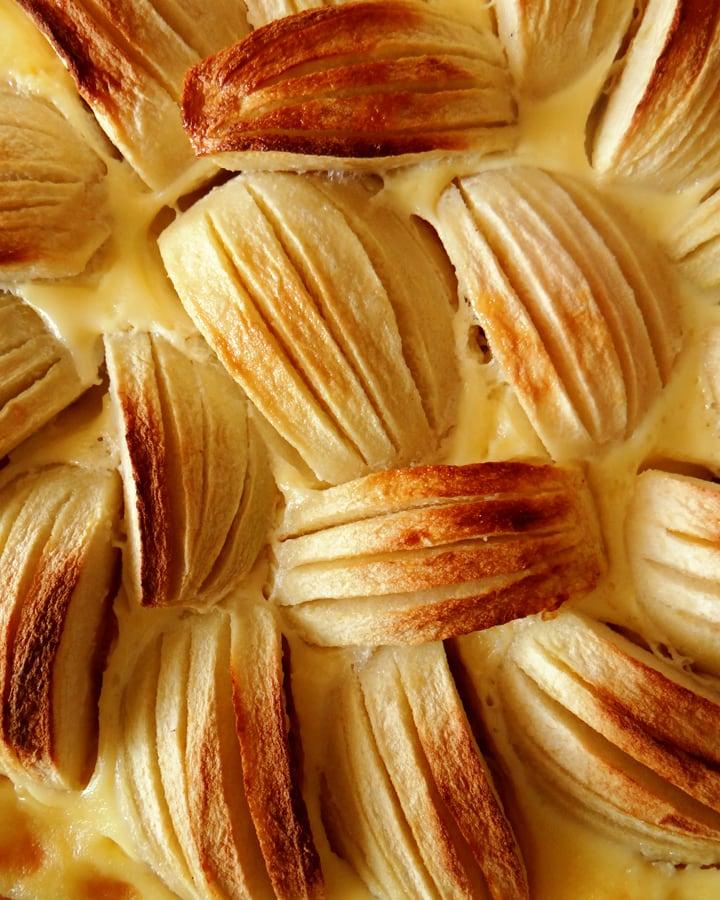 intérieur tarte alsacienne aux pommes