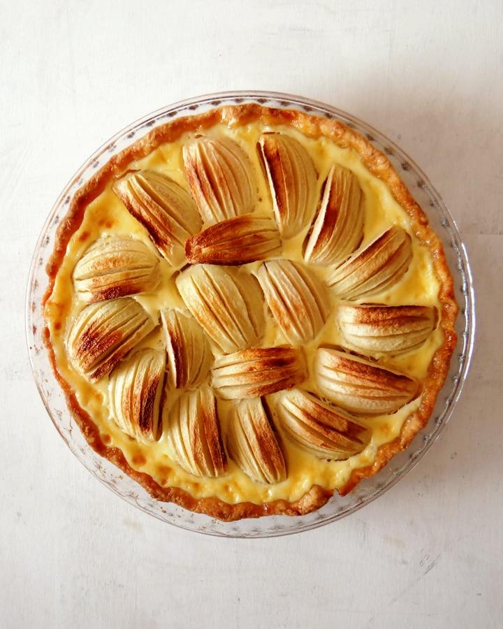 tarte alsacienne aux pommes dans moule