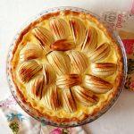 tarte alsacienne aux pommes sur table