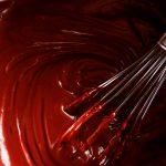 chocolate custard in pan