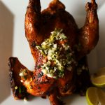 caribbean baked chicken on plate