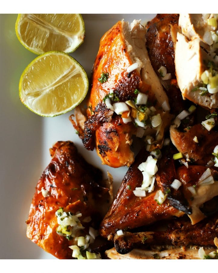 caribbean baked chicken cut in pieces