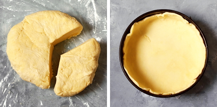 two thirds of pie crust rolled