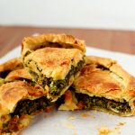 slices of spinach pie