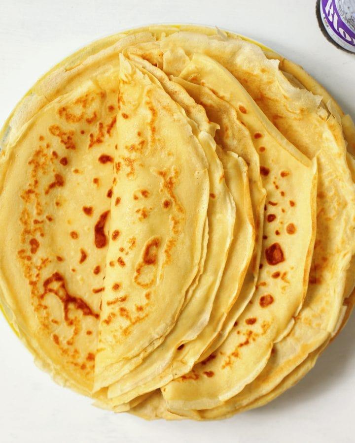 crêpes on a plate