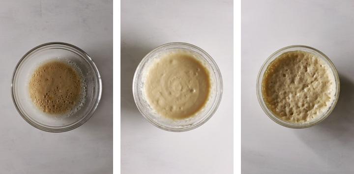 etapes levain pour beignets