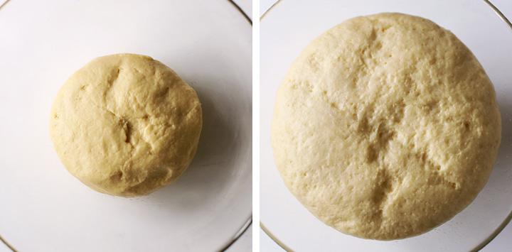 pâte levant dans saladier
