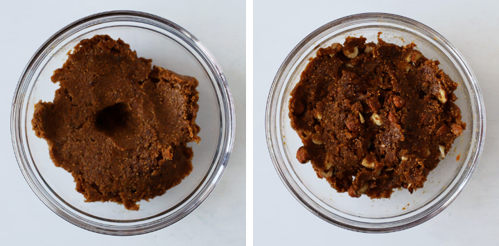 fig paste with hazelnuts