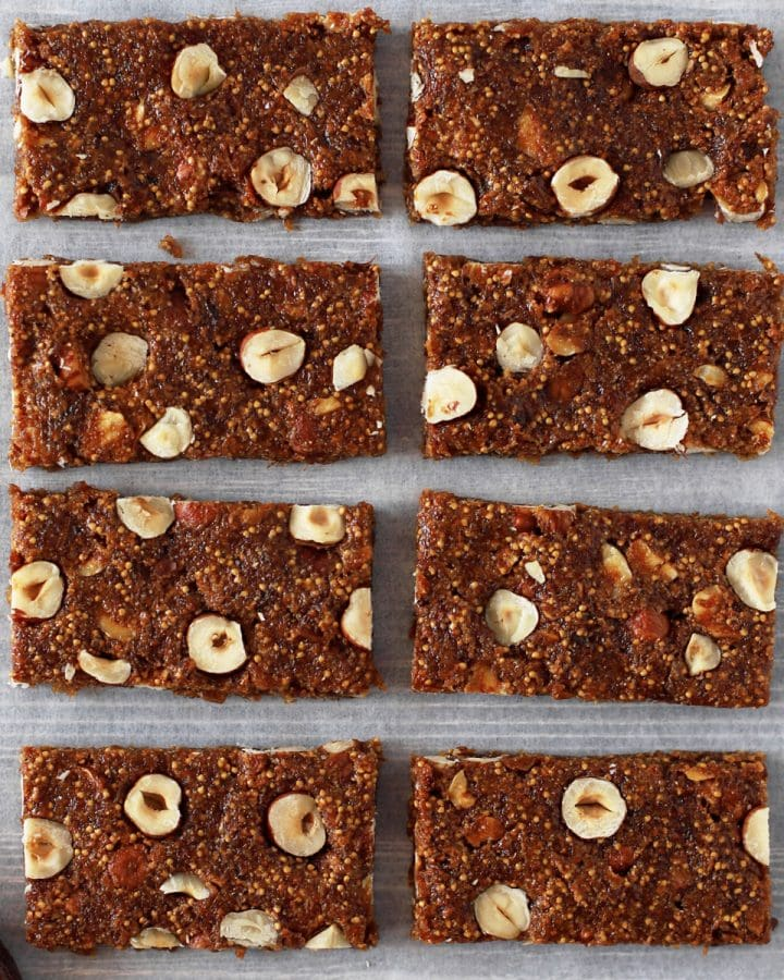 slices of homemade fig bars