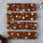 homemade fig bars on baking parchment